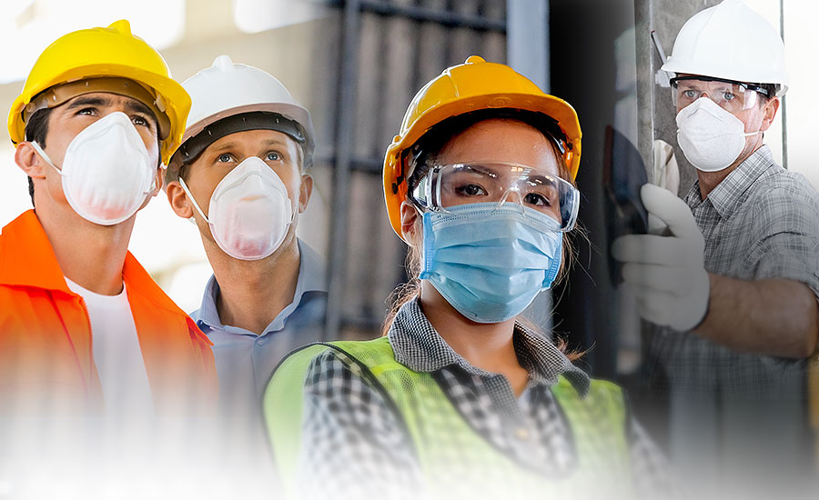 Are surgical or cloth masks acceptable respiratory protection in the construction industry?